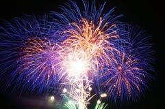 Fogos-de-artifício em Omimaiko, Otsu, Shiga, Japão Fotografia de Stock