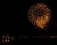 Fogos-de-artifício em Reykjavik Imagens de Stock
