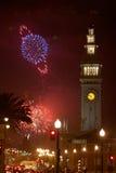 Fogos-de-artifício em San Francisco Fotografia de Stock