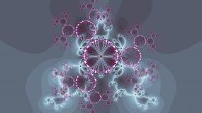 Fogos-de-artifício em um fundo azul Gráficos do Fractal Imagem de Stock Royalty Free