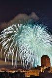 Fogos-de-artifício em Valença Fotos de Stock Royalty Free
