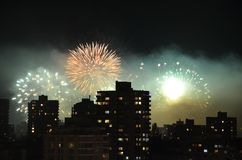 Fogos-de-artifício em Vancôver Imagem de Stock