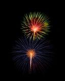 Fogos-de-artifício esplêndidos coloridos do Dia da Independência Imagem de Stock Royalty Free