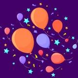 Fogos-de-artifício festivos feitos das bolas ilustração stock