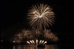 Fogos-de-artifício Ignis Brunensis - fogos-de-artifício de Nanos Foto de Stock Royalty Free