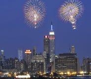 Fogos-de-artifício julho de ô em New York City Fotos de Stock