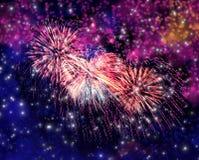 Fogos-de-artifício mágicos bonitos Imagens de Stock
