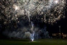 Fogos-de-artifício na cidade de Tuscan de Lastra um Signa Foto de Stock Royalty Free