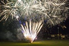 Fogos-de-artifício na cidade de Tuscan de Lastra um Signa Imagem de Stock Royalty Free