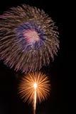 Fogos-de-artifício na noite Foto de Stock