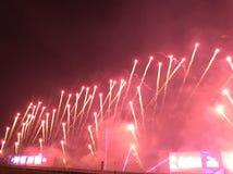 Fogos-de-artifício na pista de corridas II de Shatin fotos de stock