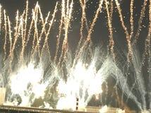 Fogos-de-artifício na pista de corridas de Shatin fotografia de stock royalty free