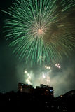 Fogos-de-artifício na véspera dos anos novos em Sydney, Austrália Imagem de Stock Royalty Free