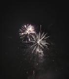 Fogos-de-artifício naturais brilhantes fotografia de stock royalty free