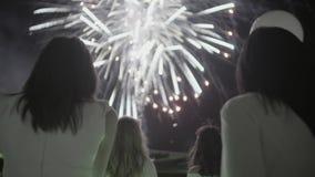Fogos-de-artifício no céu video estoque