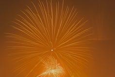 Fogos-de-artifício no céu Imagem de Stock Royalty Free