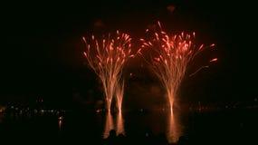 Fogos-de-artifício no céu nocturno Imagem de Stock