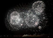 Fogos-de-artifício no dia nacional de Barém Fotografia de Stock