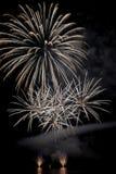 Fogos-de-artifício no lago Foto de Stock Royalty Free