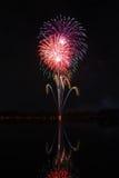 Fogos-de-artifício no parque fotografia de stock