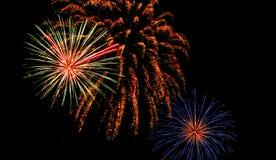 Fogos-de-artifício no samui do koh Imagem de Stock