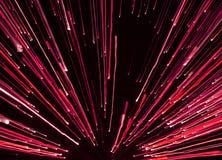 Fogos-de-artifício no vermelho fotografia de stock