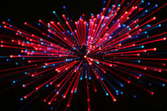 Fogos-de-artifício no vermelho Fotografia de Stock Royalty Free