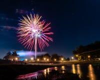 Fogos-de-artifício o 4 de julho Foto de Stock Royalty Free