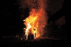 Fogos-de-artifício ou foguetes durante o festival de Diwali ou de Natal Fotos de Stock Royalty Free