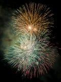 Fogos-de-artifício para comemorar o dia da mercê 2014 em Barcelona Foto de Stock Royalty Free