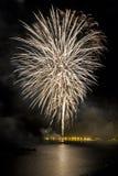 Fogos-de-artifício para comemorar o dia da mercê 2014 em Barcelona Fotos de Stock