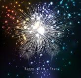 Fogos-de-artifício pelo ano novo feliz Imagem de Stock Royalty Free