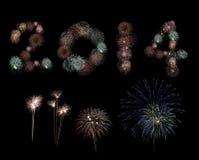 Fogos-de-artifício por 2014 anos. Imagens de Stock