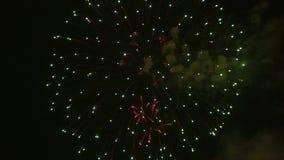 Fogos-de-artifício que explodem no céu noturno filme