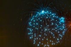 Fogos-de-artifício que mostram como o estouro de estrelas imagem de stock royalty free