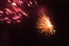 Fogos de artifício, Rottingdean, East Sussex, Reino Unido imagem de stock royalty free