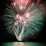 Fogos-de-artifício, saudação fotografia de stock royalty free