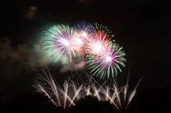 Fogos-de-artifício sobre Bonython Imagens de Stock
