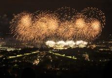 Fogos-de-artifício sobre Canberra Foto de Stock Royalty Free