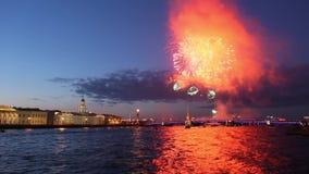 Fogos-de-artifício, St Petersburg video estoque