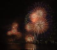 Fogos-de-artifício surpreendentes no Tóquio Foto de Stock