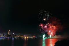 Fogos-de-artifício, TAIPEI - OUTUBRO 10 Fotos de Stock