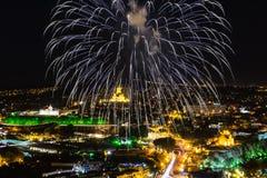 Fogos-de-artifício Tbilisi Georgia Europe Imagem de Stock