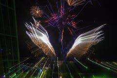 Fogos-de-artifício, Território do Norte, Austrália Imagens de Stock