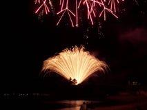 Fogos-de-artifício de Torquay Fotografia de Stock
