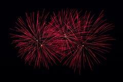 Fogos-de-artifício vermelhos Imagens de Stock