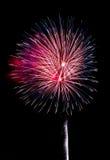 Fogos-de-artifício vermelhos, brancos e azuis Fotografia de Stock