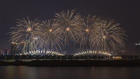Fogos de artif?cio em Changsha, China foto de stock royalty free
