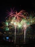 Fogos-de-artifício, Darling Harbour, Sydney Imagens de Stock Royalty Free