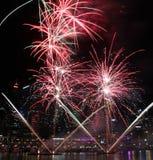 Fogos-de-artifício, Darling Harbour, Sydney Foto de Stock